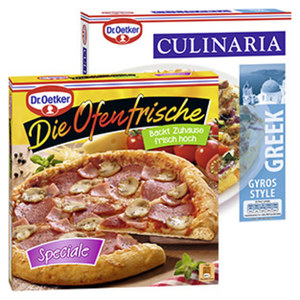 Dr. Oetker Die Ofenfrische Pizza Speciale 415 g oder Culinaria Greek Style 355 g, gefroren, jede Packung und weitere Sorten