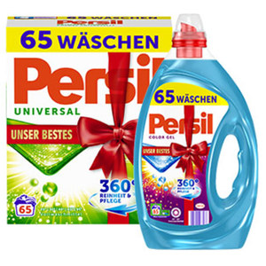 Persil Waschmittel XXL 65/60 Waschladungen, versch. Sorten, jede Packung/Flasche