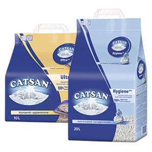 Catsan Hygiene Streu 20 Liter, Ultra Klumpstreu 10 Liter oder Active fresh 8 Liter jede Tragepackung