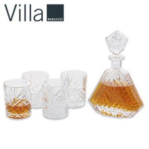 Whisky-Set - 1 Karaffe und 4 Gläser - versch. Designs