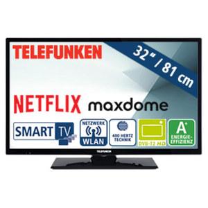 "32""-LED-HD-TV D32H289N4CWD • Auflösung 1.366 x 768 Pixel • HbbTV, 3 HDMI-/2 USB-Anschlüsse, CI+ • Stand-by: 0,5 Watt, in Betrieb: 31 Watt • Maße: H 43,8 x B 73,5 x T 9,7 cm • Energie-E"
