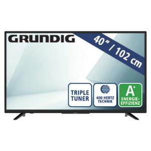 "40""-FullHD-LED-TV 40 GFB 5900 • 3 HDMI-/2 USB-Anschlüsse, CI+ • Stand-by: 0,4 Watt, in Betrieb: 46,1 Watt • Maße: H 53,2 x B 90,7 x T 9,3 cm • Energie-Effizenz A+ (Spektrum A++ bis E)"