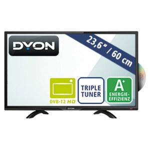 """23,6""""-FullHD-LED-TV/DVD Sigma 24 Pro X • Auflösung 1.920 x 1.080 Pixel • HDMI-/USB-/CI+-Anschluss • Stand-by: 1 Watt, Betrieb: 19 Watt • Maße: H 33,4 x B 55,7 x T 7,5 cm • Energie-Effiz"""