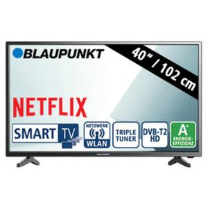 "40""-FullHD-LED-TV BLA-40/138M • 3 HDMI-/2 USB-Anschlüsse, CI+ • Stand-by: 0,5 Watt, Betrieb: 48 Watt • Maße: H 54,1 x B 92,0 x T 8,3 cm • Energie-Effizienz A+ (Spektrum A++ bis E)"