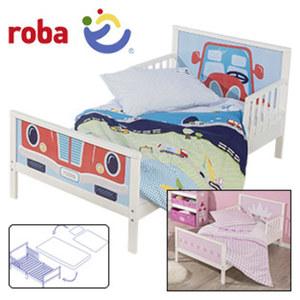 Junior-Themenbett inkl. Bettwäsche und Matratze und Lattenrost, extra niedrige Einstiegshöhe, Maße: ca. 70 x 140 cm
