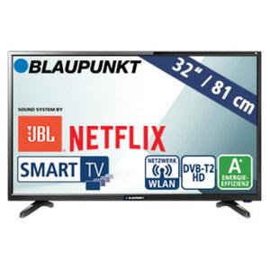 """32""""-LED-HD-TV BLA-32/138M • Auflösung 1.366 x 768 Pixel • 3 HDMI-/2 USB-Anschlüsse, CI+ • 2 x 10 Watt RMS • Stand-by: 0,5 Watt, Betrieb: 31 Watt • Maße: H 43,1 x B 73,2 x T 8,4 cm •"""