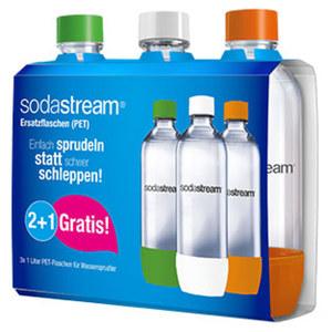 PET-Flaschen - je ca. 1 Liter Inhalt 2 + 1 Vorteilspack