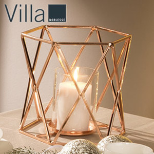 Kerzenhalter - Metall - Maße: ca. H 21,5 x 23 cm Ø