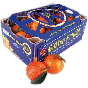 Götter Frucht Clementinen mit Blatt