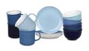 Bild 1 von Waechtersbach Elements Ocean Kaffeeservice aus Porzellan 12er-Set, Farben Hellblau, Blau, Dunkelblau