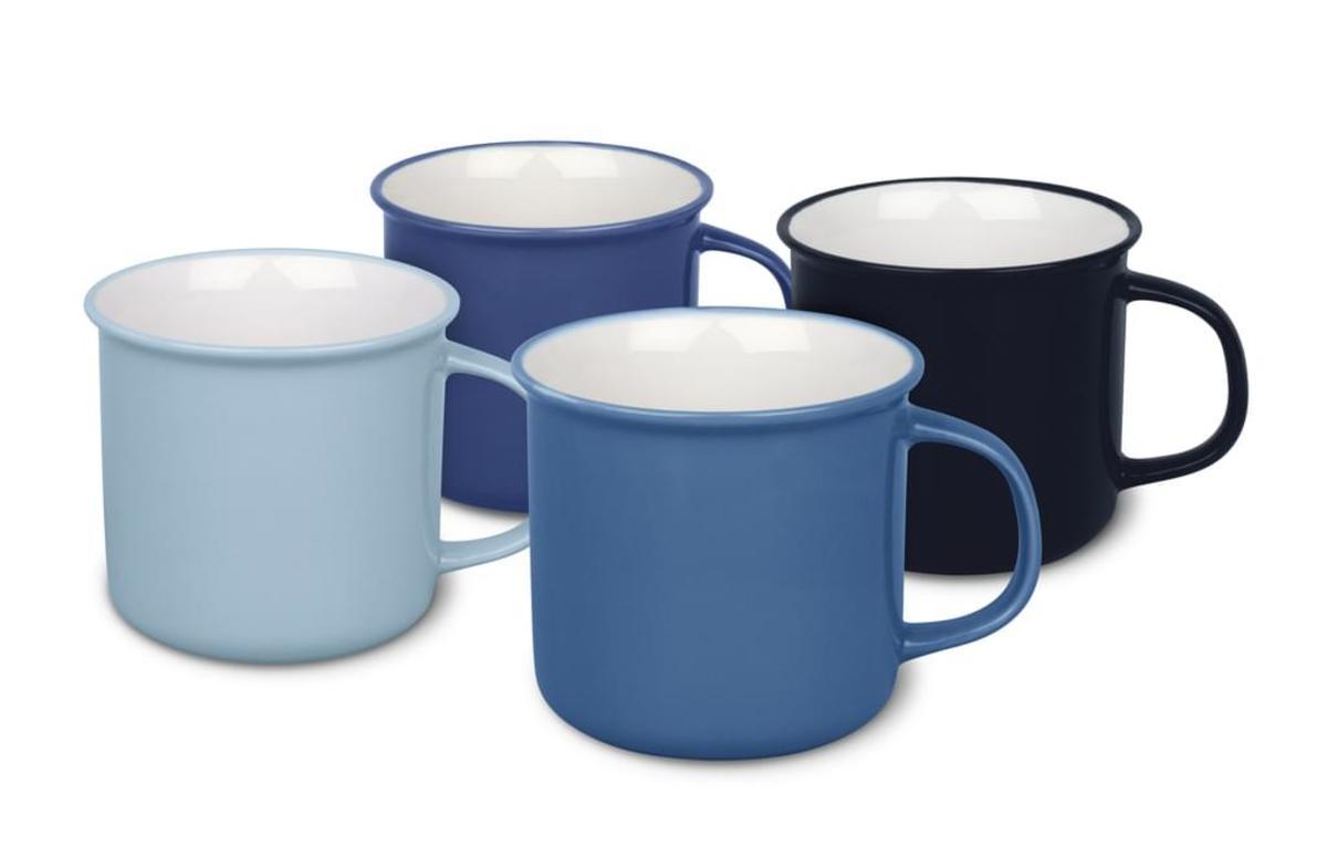 Bild 2 von Waechtersbach Elements Ocean Kaffeeservice aus Porzellan 12er-Set, Farben Hellblau, Blau, Dunkelblau