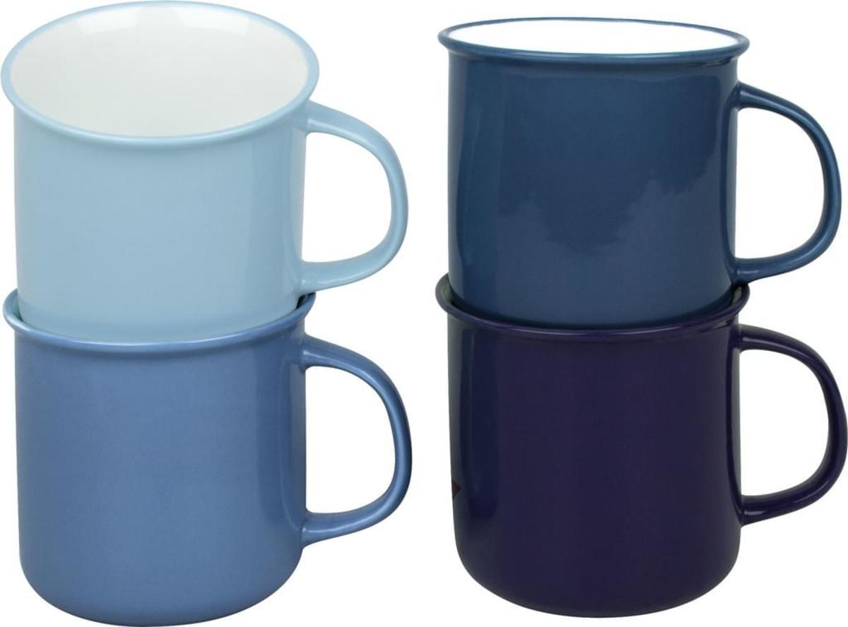 Bild 3 von Waechtersbach Elements Ocean Kaffeeservice aus Porzellan 12er-Set, Farben Hellblau, Blau, Dunkelblau