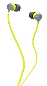Skullcandy Kopfhörer JIB IN-EAR W/O MIC GRAY/HOT LIME/HOT LIME; S2DUFZ-385