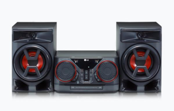 LG CK43, Schwarz - HiFi Anlage (300W, CD/Radio/USB, Auto DJ, Bluetooth, LG TV)