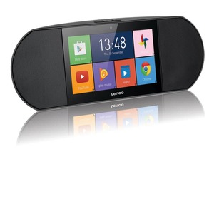 Lenco Internetradio mit Smart Media Center Diverso-700GY Schwarz