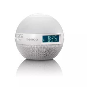 Lenco Uhrenradio CRW-1/Sunrise Weiß