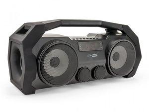 Caliber HPG528BT tragbarer Bluetooth Lautsprecher mit FM-Tuner, AUX-in, USB, micro-SD und eingebauter Batterie, 30 Watt