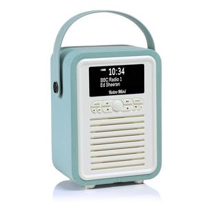 View Quest Retro Mini Radio DAB/DAB+/Bt Inkl. Powerbank, Mint