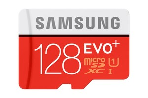 Samsung microSDXC Speicherkarte EVO Plus 128 GB mit SD Adapter