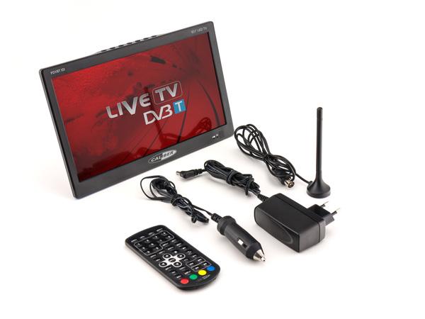 Caliber tragbarer 25,60cm (10,1 Zoll) LED TV mit DVB-T2 Empfänger, 12 / 24 Volt, HDMI, USB