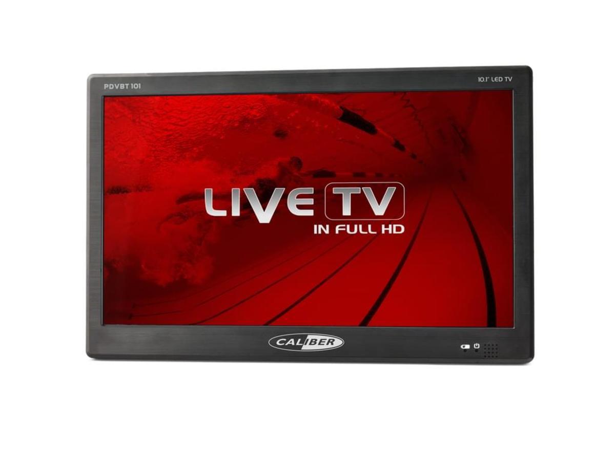 Bild 2 von Caliber tragbarer 25,60cm (10,1 Zoll) LED TV mit DVB-T2 Empfänger, 12 / 24 Volt, HDMI, USB