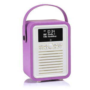 View Quest Retro Mini Radio DAB/DAB+/Bt Inkl. Powerbank, Orchidee