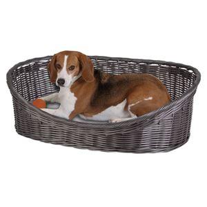 Hundekörbchen mit Kissen Rattanoptik Gr. XL 63,5x21,5x47,5cm