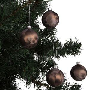 Weihnachtsbaumkugeln Eislack Braun 6cm 4er-Set