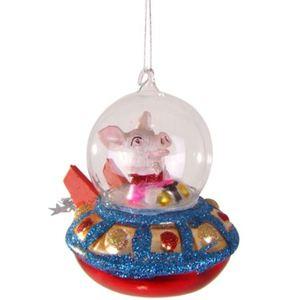 Weihnachtsbaum-Anhänger Ufo Schweinchen