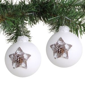 Weihnachtsbaumkugeln Estrella 9cm 2er-Set