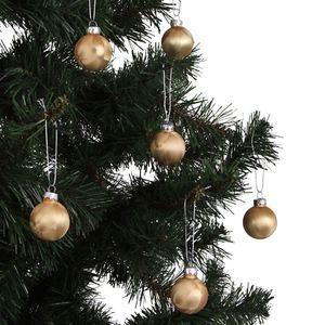 Weihnachtsbaumkugeln Eislack Gold 4cm 6er-Set
