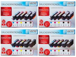 UNITED OFFICE® Druckerpatronen-Multipack