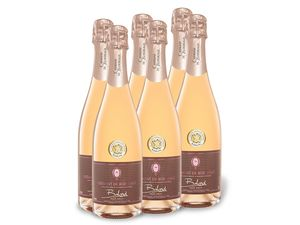 6 x 0,75-l-Flasche Weinpaket Balard Crémant de Bordeaux AOC rosé brut, Schaumwein