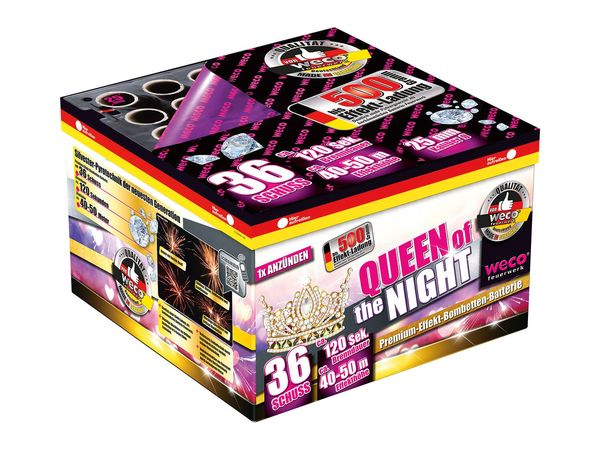 "WECO Premium-Effekt- Bombetten-Batterie ""Queen of the Night"""
