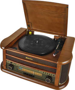 ROADSTAR  Retro-Stereo-Anlage mit Plattenspieler »HIF-1899NTUMPK«