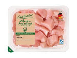 Frisches Hähnchen-Fonduefleisch