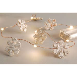 LED-Kette Schneeflocken ca. 300 cm