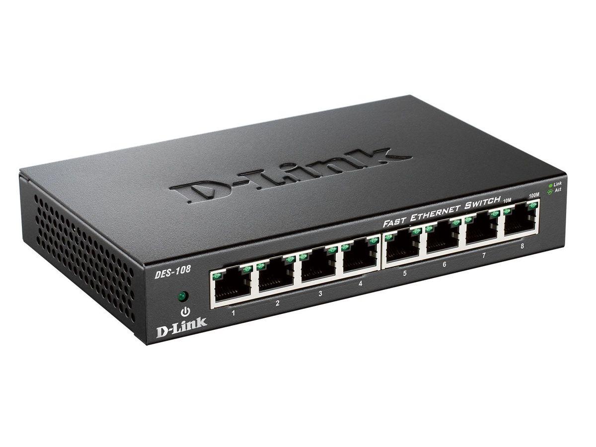 Bild 1 von D-Link DES-108/E Fast Ethernet Switch