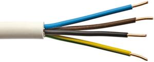 Installationsleitungen grau 10 oder 25 mRinge, 1,5 oder 2,5 mm², 3 oder 5 adrig Weingärtner