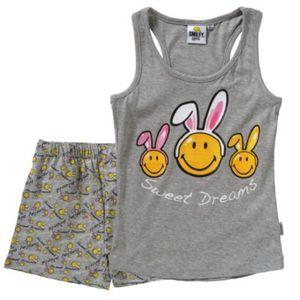 SMILEY WORLD Schlafanzug Gr. 128 Mädchen Kinder