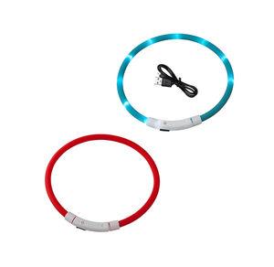 Tier-LED-Halsband aus Silikon, ca. 50cm