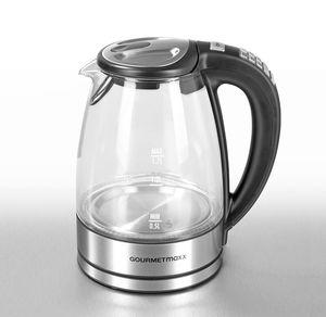 GOURMETmaxx Glas-Wasserkocher mit Farbcodierung, ca. 1,7l