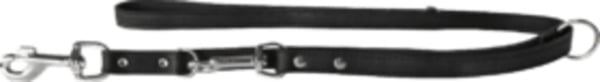 Das Lederband Hundeführleine Weinheim, Schwarz, Breite 12 mm / Länge 200 cm