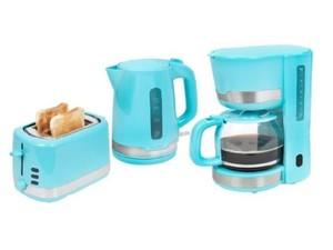 Exquisit Frühstücks-Set 7101 pbl 3 tlg. ´´KA7101pbl + TA7101pbl + WK7101pbl´´