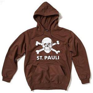 FC St. Pauli Kapuzensweater ´´Totenkopf´´, braun