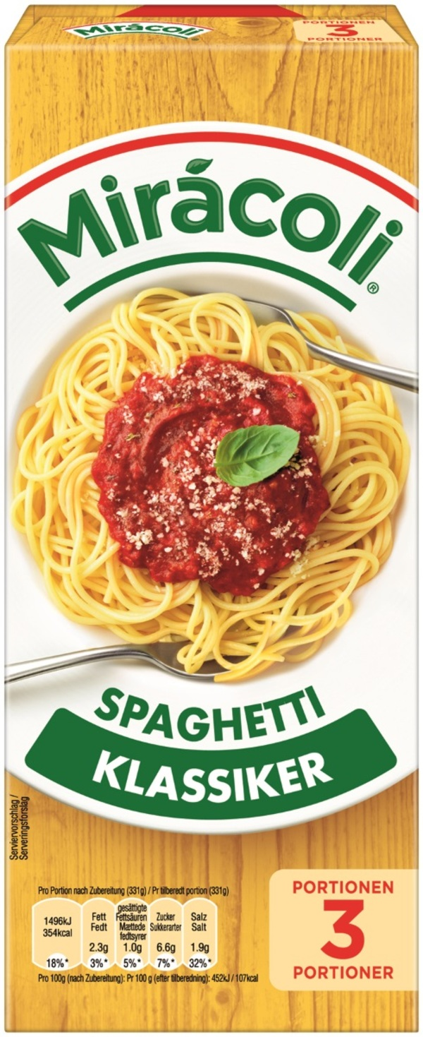 Miracoli Spaghetti mit Tomatensauce 3 Portionen 397 g