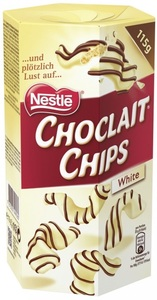 Nestle Choclait Chips White 115 g