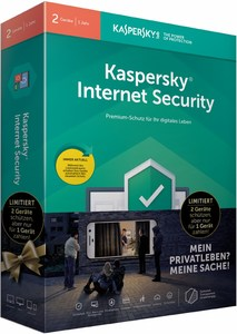 Kaspersky Internet Security 2019 Software für 2 Geräte