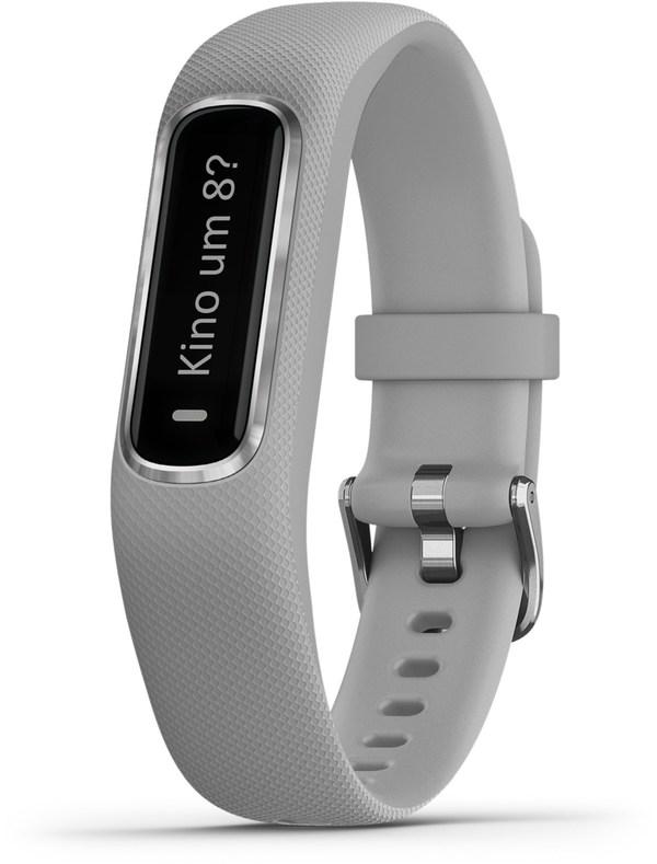 Garmin vivosmart 4 S/M Activity Tracker hellgrau/silber