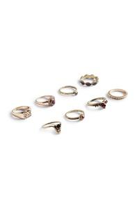 Verschiedene Ringe, 8er-Pack